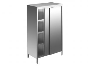 EU04208-13 armadio verticale ECO cm 130x60x180h porte scorrevoli - 3 ripiani regolabili
