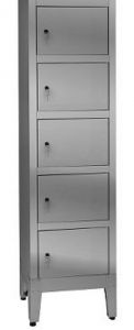 IN-695.05 Multivano wardrobe in AISI 304 stainless steel - 5 seats