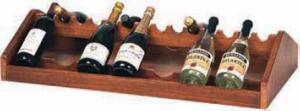 A1260 Espositore vini legno noce da appoggio 88x46x19h