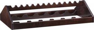 A 1260W Wengé wooden Wine rack 88x46x19h