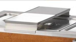 A600 Soporte de placa deslizante con tabla de cortar de polietileno