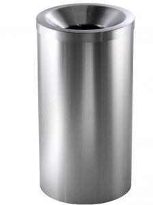 AV4620 Brushed stainless steel Self-extinguishing waste paper bin 50 liters