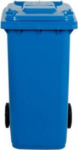AV4675 Portarifiuti polietilene blu 2 ruote 100 litri