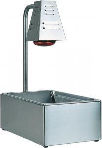 BI4719 Contenedor gastronorm GN acero inox lampara de infrarrojos 60x33x68h