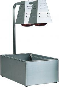 BI4719D Contenedor GN inox con 2 lamparas de infrarrojos 60x33x68h