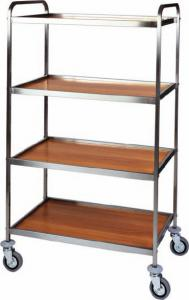 CA 1071 Multiservice trolley 4 shelves 103x57x172h