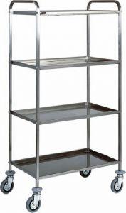 CA1380 Carrello acciaio inox multiservizi 4 piani 91x57x172h