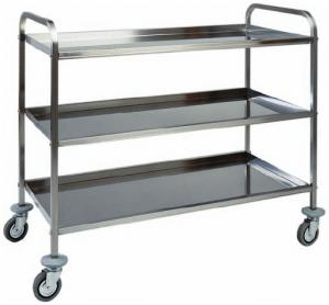 CA 1385 Stainless steel service trolley 3 shelves 111x57x96h
