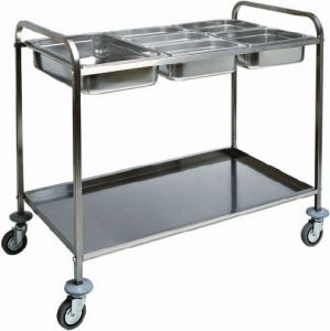 CA 1386 Stainless steel trolley for gastronorm bacs 77x62x97h