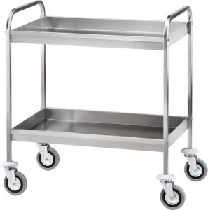 CA 1396 Stainless steel clearing trolley Two basins h65