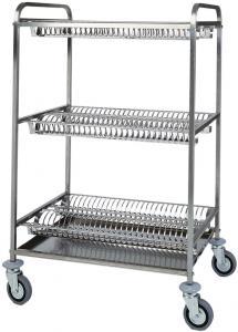 CA1401 Carrello scolapiatti acciaio inox 4 piani