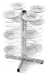 CA1435  Lunch counter dish holder 48 plates Ø18/23 Painted grids