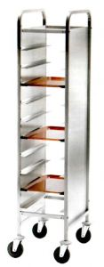 CA1450PI Stainless steel Tray-holder trolley for 10 trays Stainless steel Side panels