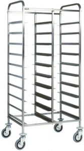 CA1460 Stainless Tray-holder trolley for 20 trays