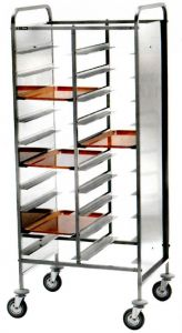 CA1461RPI Stainless steel Reinforced tray-holder trolley 20 trays