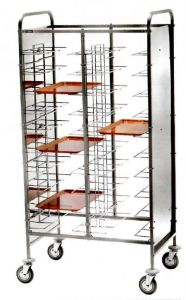 CA1465PI Stainless steel universal tray-holder trolley 20 trays Side panels