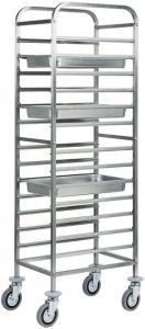 CA1479 Stainless steel GN pan trolley 14 GN1/1