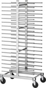 CA1480D Tray rack trolley for bakeries for 40 trays
