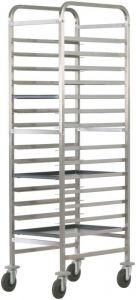 CA1492R Reinforced tray rack trolley for bakeries 14 trays 60x40