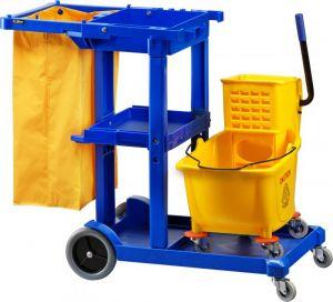 CA1606E Chariot de nettoyage panier 2 chariots en un
