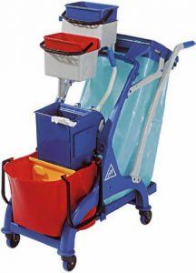 CA1613 Carrello pulizia professionale accessoriato 107x56x111h