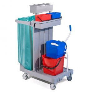 CA1614 Multi-purpose plastic trolley for cleaning 92x55x124h