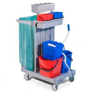 CA1615  Multi-purpose plastic trolley for cleaning 92x68x124h