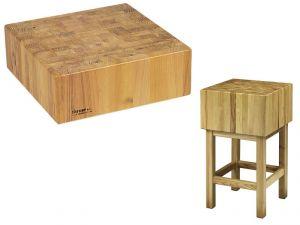 CCL1764 Bloque de madera de 17 cm con taburete 60x40x90h