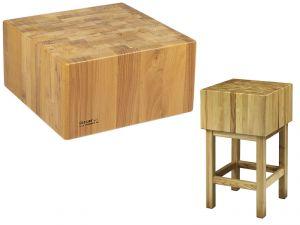 CCL2577 Bloque de madera 25cm con taburete 70x70x90h