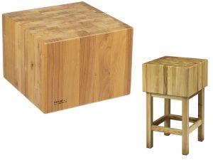 CCL3555 Ceppo legno 35cm con sgabello 50x50x90h