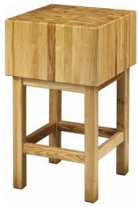 CCL3577 Bloque de madera de 35 cm con taburete 70x70x90h