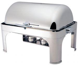CD6502 Chafing dish rettangolare acciaio inox brillante Roll top 180°