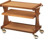 TCL 2151 Carrello servizio legno noce chiaro 3 piani 106x55x85h