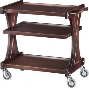 CL 2151 Carrito de servicio de madera Wengé 3 estantes 106x55x85h