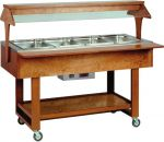 TELC 2828 Wooden Hot display case bain marie (+30°+90°C) 4x1/1GN