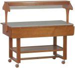 TELN 2835 Espositore in legno neutro su ruote per buffet