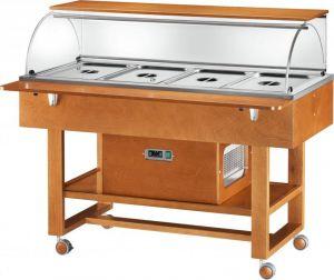 ELR2826BT Carro refrigerado madera (-5°+5°C) 4x1/1GN cupula/estante