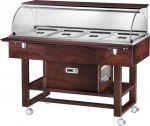 TELR 2826W Carrello legno refrigerato (+2°+10°C) 4x1/1GN cupola/pianetto Wengé