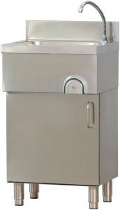 LMM  Fregadero lavamano de acero inox su gabinete con puerta