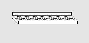 EU63801-17 ripiano a parete forato ECO cm 170x28x4h