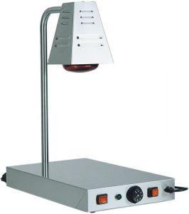 PCI4718 Plateau chauffant acier inox avec lamp à infrarouges 58x33x68h