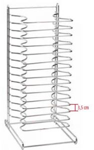 PT15 Stainless steel tabletop for round baking pans (minimum 4 pieces)
