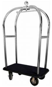 PV2021I Carro maletero acero inox Ruedas neumáticas