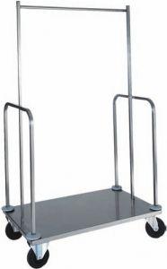 PVI4024 Carrello portavaligie e porta-abiti acciaio inox