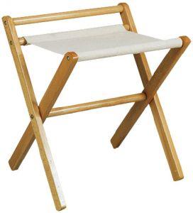 RE4016   Soporte para maletas de madera haya con riel Toalla de algodón