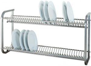 SP1397  Egouttier pour assiettes à mur en acier inoxydable 104x30x55h
