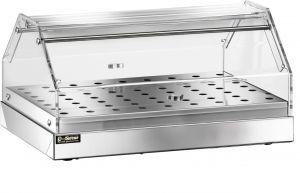 VBN 4751 Vitrine neutre à poser acier inoxydable 1 étagere 50x35x22h