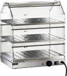 TVBR 4753 Vetrinetta riscaldata acciaio inox 3 piani inox 50x35x54h