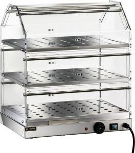 VBR4753 Vetrinetta riscaldata acciaio inox 3 piani inox 50x35x54h