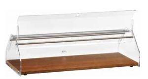 VL4748 Vitrine présentoir neutre pour brioches bois Couvercle en plexiglas 50x35x21h